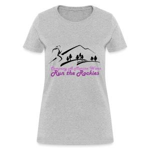 Regular Cotton Tee  - Pink Logo - Women's T-Shirt