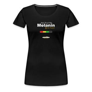 Melanin On Point - Double Sided Black T-Shirt (Women) - Women's Premium T-Shirt