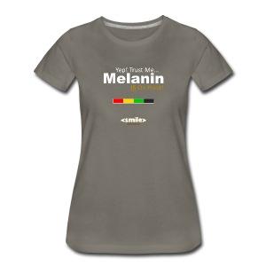 Melanin On Point - Double Sided Asphalt T-Shirt (Women) - Women's Premium T-Shirt