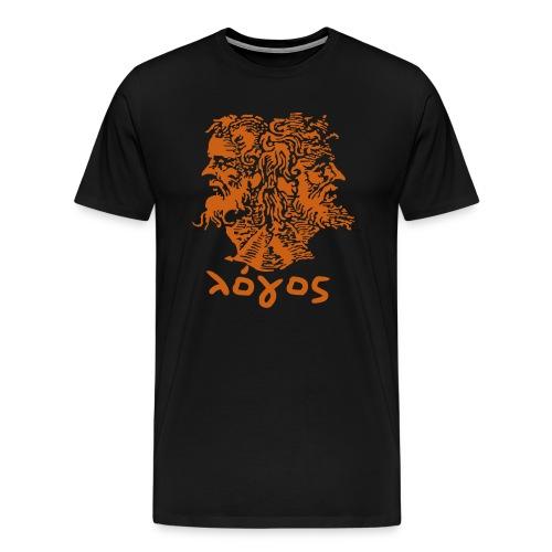 Logos Standard (Orange) - Men's Premium T-Shirt