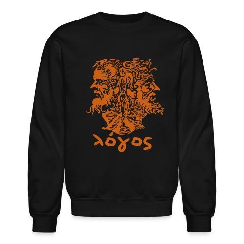 Logos Sweatshirt - Black (Orange Janus) - Crewneck Sweatshirt