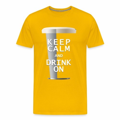 Keep Calm and Drink On - Men's Ale - Men's Premium T-Shirt