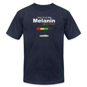 Melanin On Point - Double Sided Navy T-Shirt (Men) - Men's Fine Jersey T-Shirt
