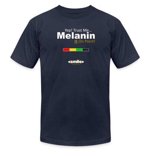 Melanin On Point - Double Sided Navy T-Shirt (Men) - Men's  Jersey T-Shirt