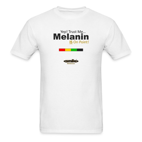 Melanin On Point - White T-Shirt (Men) - Men's T-Shirt
