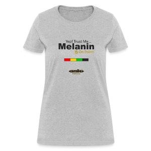 Melanin On Point - Heather Gray T-Shirt (Women) - Women's T-Shirt