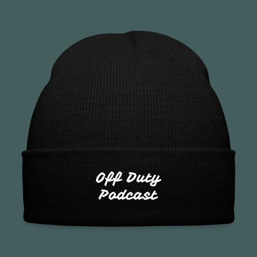 Off Duty Podcast Knit Cap - Knit Cap with Cuff Print