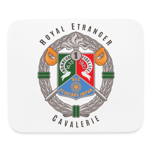 1er REC Badge - Foreign Legion - Mouse Pad - Mouse pad Horizontal