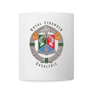 1er REC Badge - Foreign Legion - White Mug - Coffee/Tea Mug