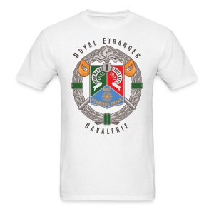 1er REC Badge - Foreign Legion - T-Shirt - White - Men's T-Shirt