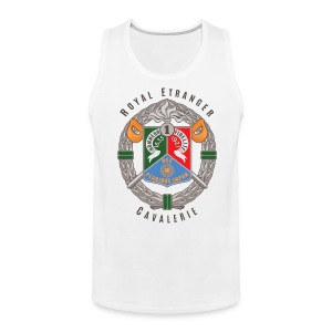 1er REC Badge - Foreign Legion - Premium Tank Top - White - Men's Premium Tank
