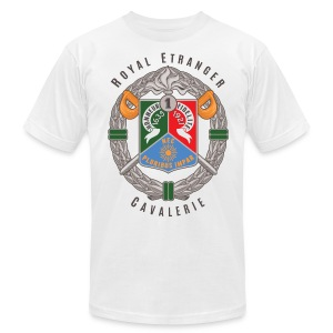 1er REC Badge - Foreign Legion - American Apparel T-Shirt - White - Men's T-Shirt by American Apparel