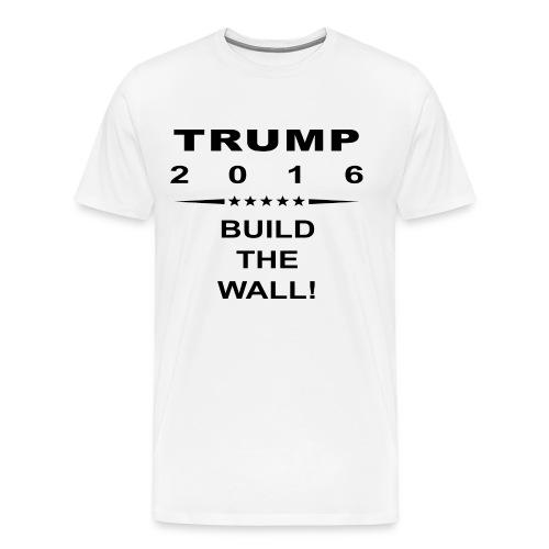 Build The Wall Tee - Black Logo - Men's Premium T-Shirt