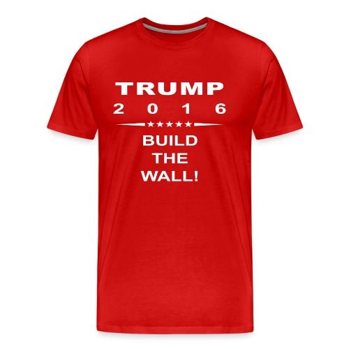 Build The Wall Tee - White Logo - Men's Premium T-Shirt