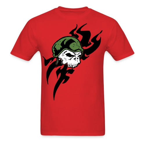 Skull Military Tattoo - Men's T-Shirt