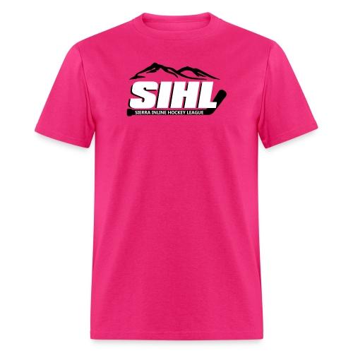 SIHL Adult T-shirt Pink w BW Logo - Men's T-Shirt