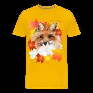 T-Shirts ~ Men's Premium T-Shirt ~ FACE in FALL-Fox eye view
