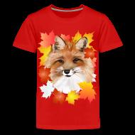 Kids' Shirts ~ Kids' Premium T-Shirt ~ FACE in FALL-Fox eye view