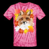 T-Shirts ~ Unisex Tie Dye T-Shirt ~ FACE in FALL-Fox eye view