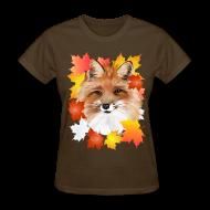 T-Shirts ~ Women's T-Shirt ~ FACE in FALL-Fox eye view