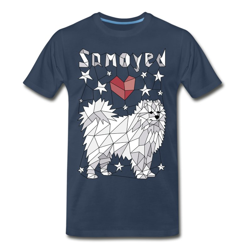 Geometric Samoyed - Men's Premium T-Shirt