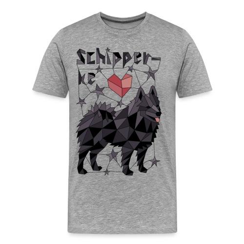 Geometric Schipperke - Men's Premium T-Shirt