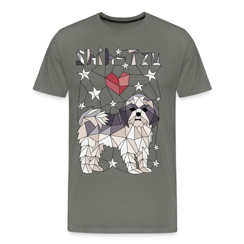 Geometric Shih-Tzu - Men's Premium T-Shirt