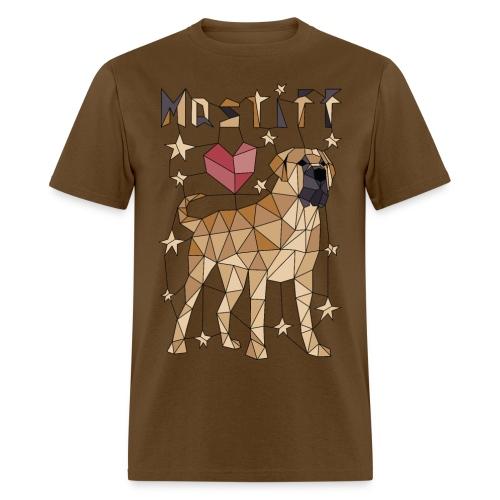 Geometric Mastiff - Men's T-Shirt