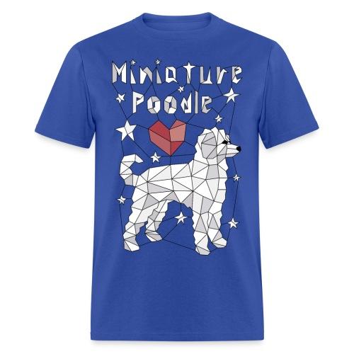 Geometric Miniature Poodle - Men's T-Shirt