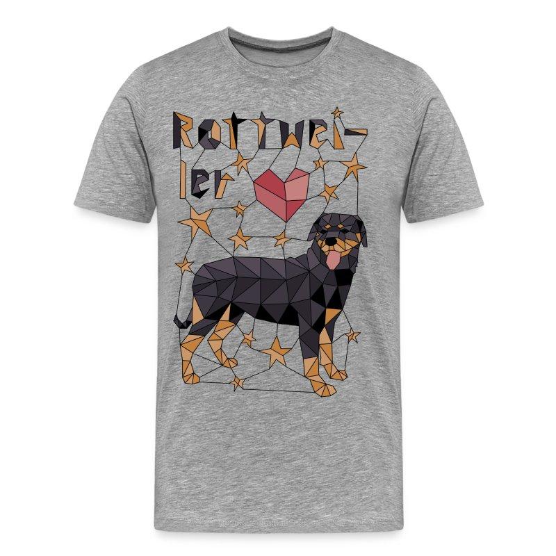 Geometric Rottweiler - Men's Premium T-Shirt