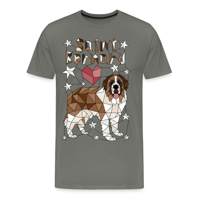 Geometric Saint Bernard - Men's Premium T-Shirt