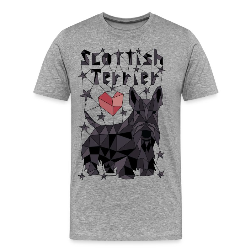 Geometric Scottish Terrier - Men's Premium T-Shirt