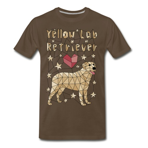 Geometric Yellow Lab Retriever - Men's Premium T-Shirt