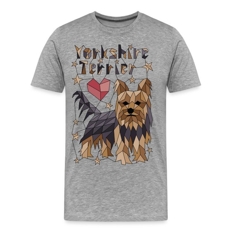 Geometric Yorkshire Terrier - Men's Premium T-Shirt