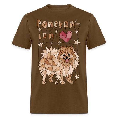 Geometric Pomeranian - Men's T-Shirt