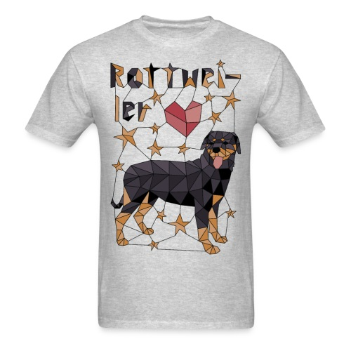 Geometric Rottweiler - Men's T-Shirt