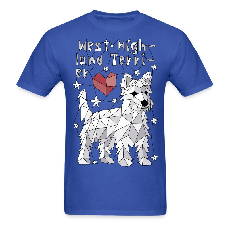 Geometric West Highland Terrier - Men's T-Shirt