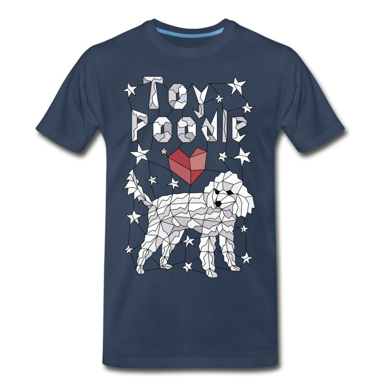 Geometric Toy Poodle - Men's Premium T-Shirt