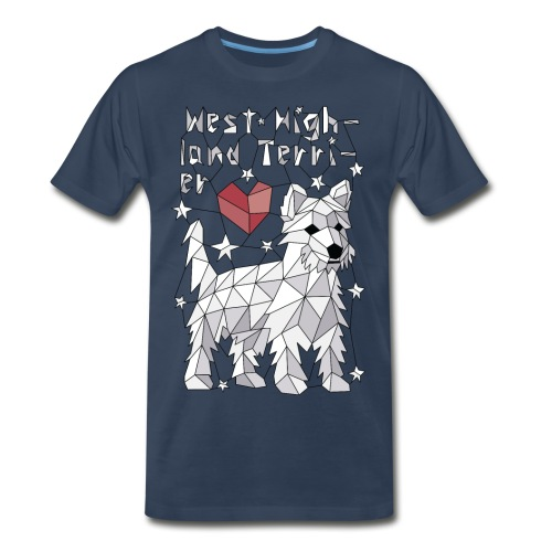 Geometric West Highland Terrier - Men's Premium T-Shirt