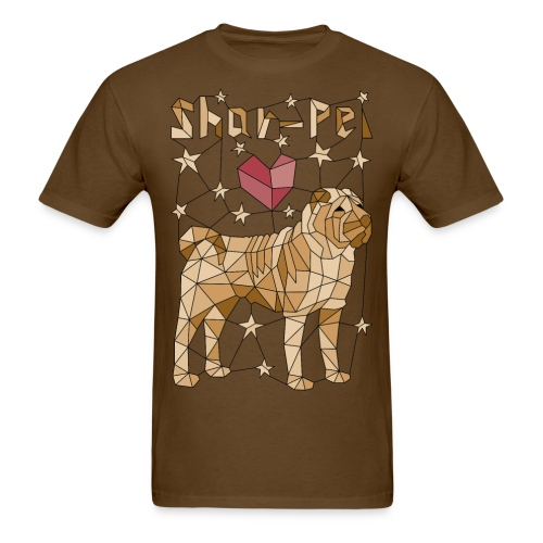 Geometric Shar-Pei - Men's T-Shirt
