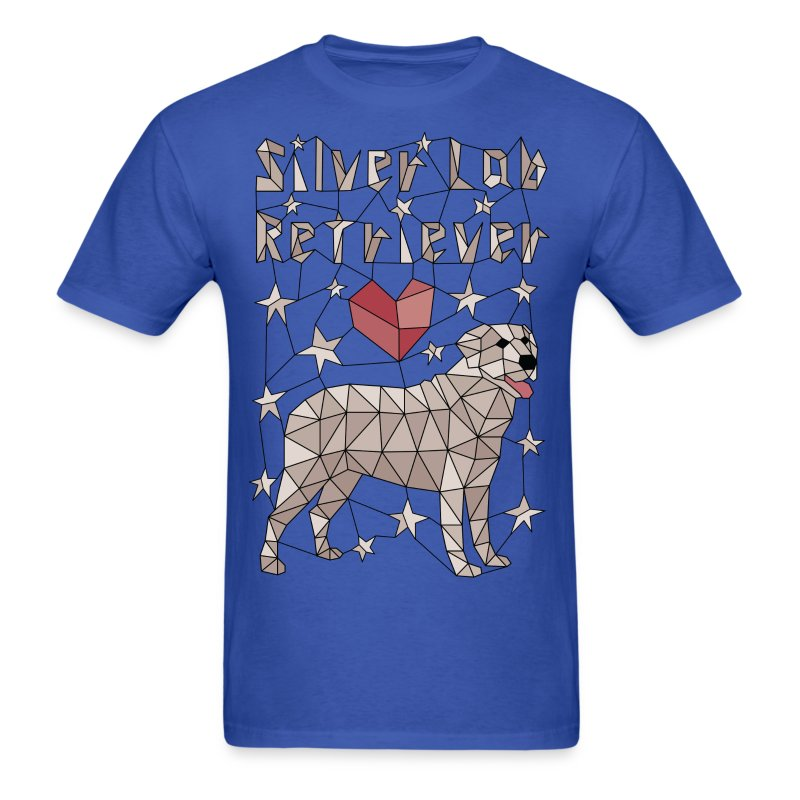 Geometric Silver Lab Retriever - Men's T-Shirt