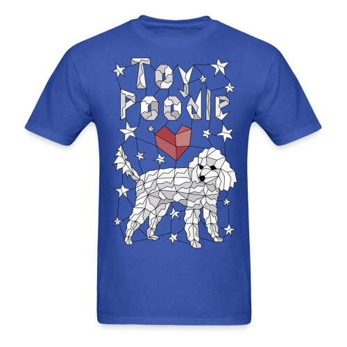Geometric Toy Poodle - Men's T-Shirt