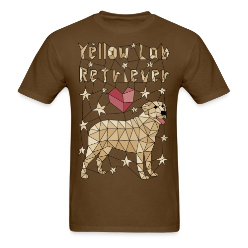 Geometric Yellow Lab Retriever - Men's T-Shirt