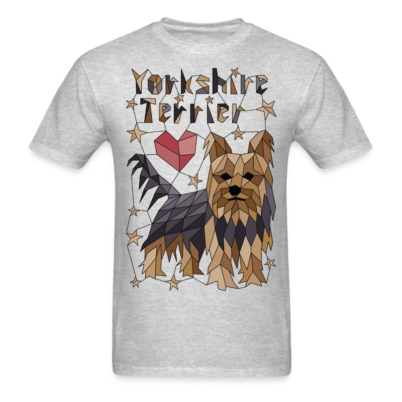 Geometric Yorkshire Terrier - Men's T-Shirt