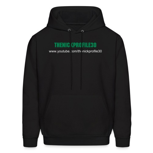 thenickprofile30 Men's Hoodie (Green Text) - Men's Hoodie