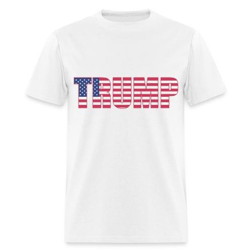 Trump - US Flag - Men's T-Shirt
