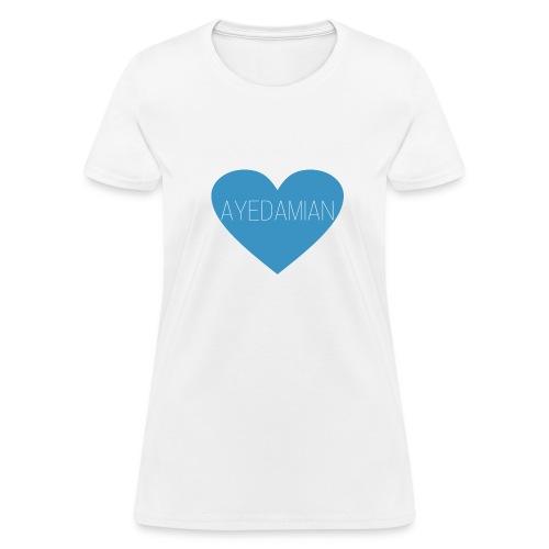 ayedamian blue heart tee - Women's T-Shirt