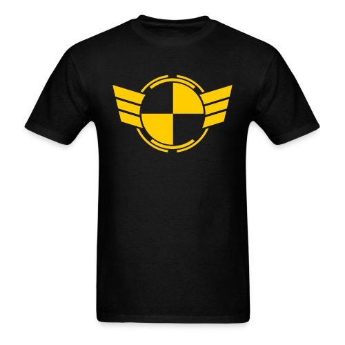testlogoYellowTrans.png - Men's T-Shirt