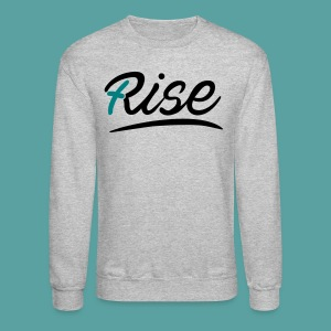Rise Teal Crewneck - Crewneck Sweatshirt