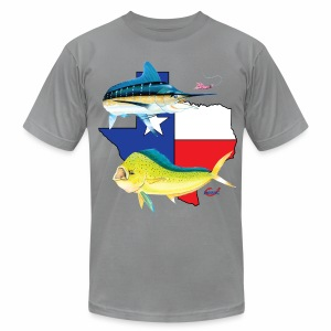 Texas Marlin and Dolphin - Men's Fine Jersey T-Shirt